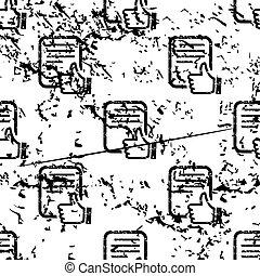 Good document pattern, grunge, monochrome