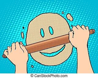 Good dough smiley face