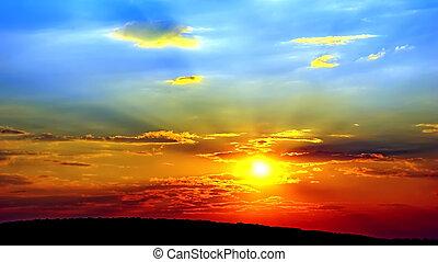 Good evening. - Bright, warm, summer evening. A colourful...