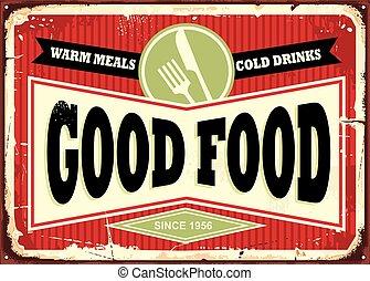 Traditional sign design for restaurant or diner