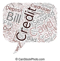 Good For Worst Credit Cards For People With Bad Credit text background wordcloud concept