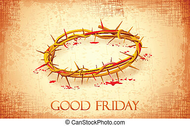 Good Friday Background with Crown of Thorns - illustration...