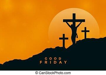 good friday background with jesus christ crucifixion scene