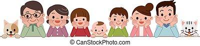 Good friend family - Vector illustration.