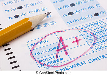 Good Grade - Close-up photograph of a perfect grade on a...