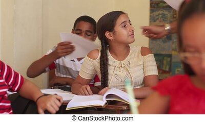 Good Grades For Female Student Happy Girl At School