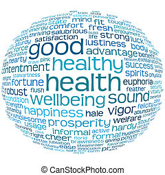 good health and wellbeing tag cloud