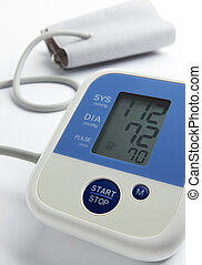 good health condition - reading on blood pressure gauge ...