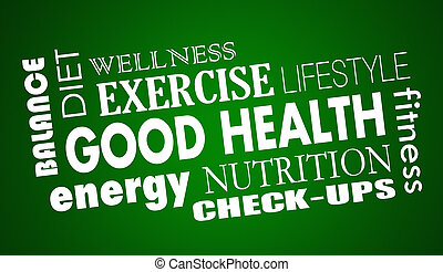 Good Health Nutrition Diet Fitness Exercise 3d Illustration