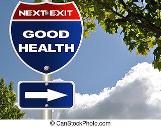 Good health road sign
