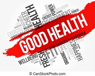 Good Health word cloud collage