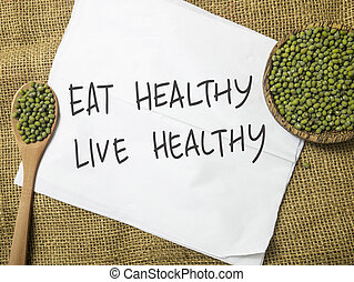 Good Healthy Food Concept, Health Lifestyle Motivational...