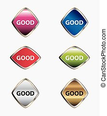 Good icon isolated button