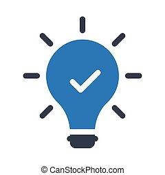 good idea glyph color icon