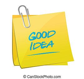 good idea post illustration design