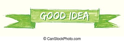 good idea ribbon - good idea hand painted ribbon sign