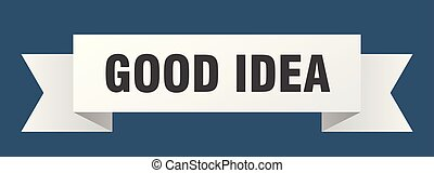 good idea ribbon. good idea isolated sign. good idea banner