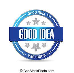 good idea seal illustration design