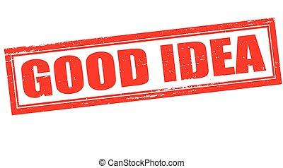Good idea - Stamp with word good idea inside, vector ...