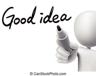 good idea words written by 3d man