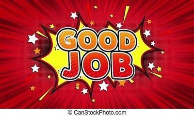 Good Job Text Pop Art Style Comic Expression. - Good Job...