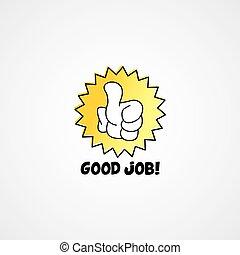 good job thumb up cartoon gesture hand sign
