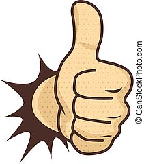 good like thumb up gesture hand sign