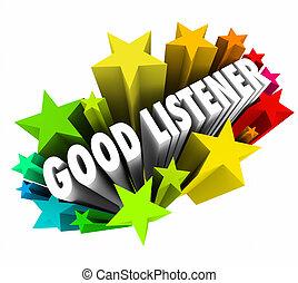 Good Listener 3d Words Sympathy Attentive Empathy - Good...