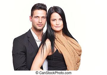 Good looking couple standing