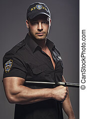 Good looking policeman