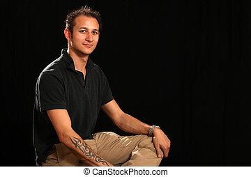 Good Looking Young Man in Studio - Good Looking Handsome...