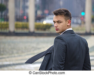 Good looking young man in suit