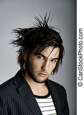 Hair Style - Good looking young man with modern Hair Style