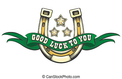 Good Luck Horse Shoe Emblem