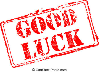 Good luck rubber stamp vector illustration. Contains original brushes