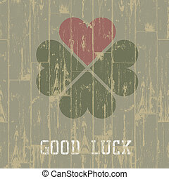 Good luck. St. Patrick's Day concept. Vector, EPS10.
