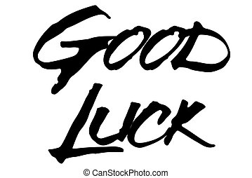 Good Luck stamp typographic stamp
