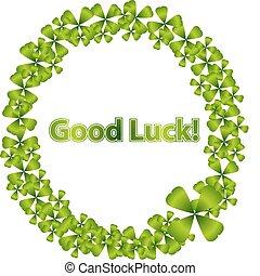 Good Luck Wreath