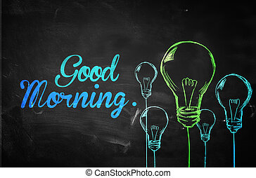 Good Morning Bulbs Background