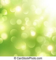 Good Morning! - Abstract Green Sunny Good Mood Spring...