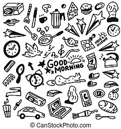 Good morning doodles - Illustration