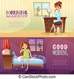 Good Morning Horizontal Banners - Good morning and morning...