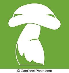 Good mushroom icon green