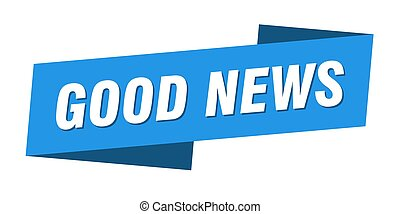 good news banner template. ribbon label sign. sticker - good...
