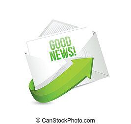 good news email illustration design over a white background