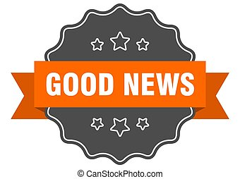 good news label. good news isolated seal. sticker. sign - ...