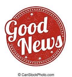 Good news stamp - Good news grunge rubber stamp on white...