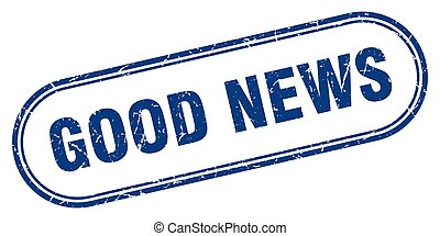 good news stamp. rounded grunge textured sign. Label - good ...