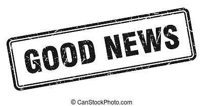good news stamp. square grunge sign on white background - ...