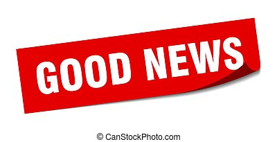good news sticker. square isolated label sign. peeler - good...